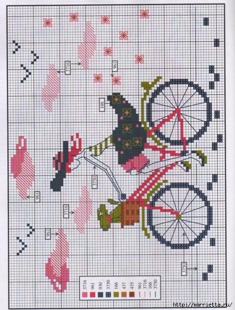 Вышиваем велосипед. Идеи со схемами (47) (476x627, 264Kb)