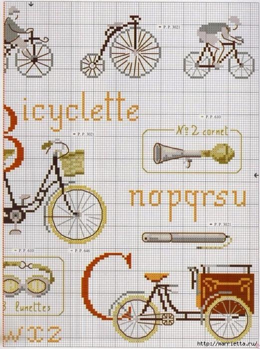 Вышиваем велосипед. Идеи со схемами (51) (521x700, 338Kb)