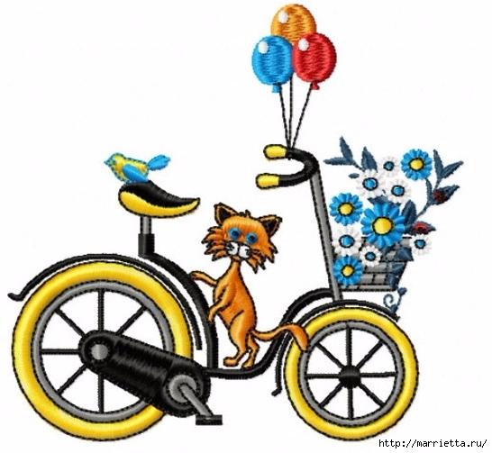 Вышиваем велосипед. Идеи со схемами (57) (546x503, 162Kb)