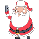 Santa Stickers/2493280_santaselfieicon (128x128, 17Kb)