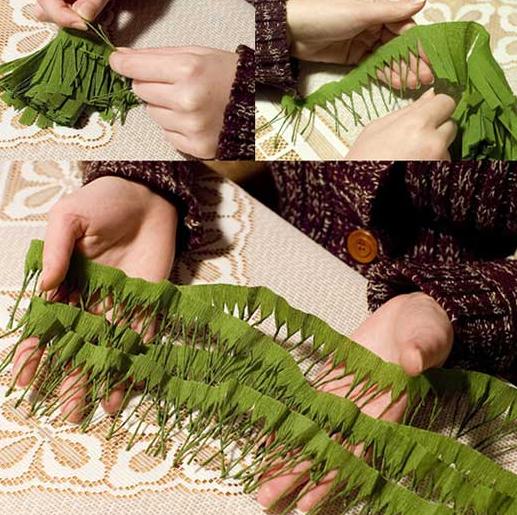 Как сделать елку из гофрированной бумаги (517x515, 692Kb)