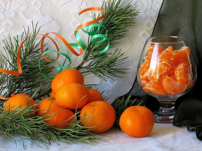 Картинки мандарина в новый год