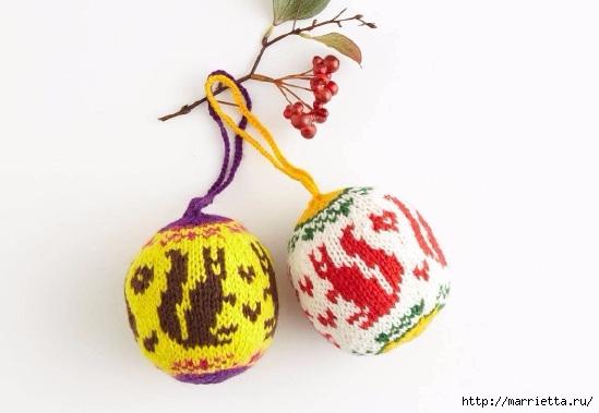 Елочные игрушки спицами. Схемы вязания (9) (549x379, 88Kb)