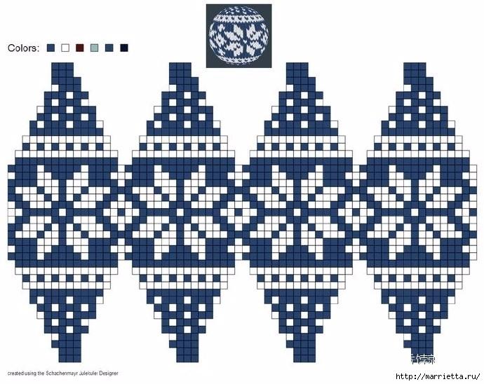 Елочные игрушки спицами. Схемы вязания (15) (690x548, 235Kb)
