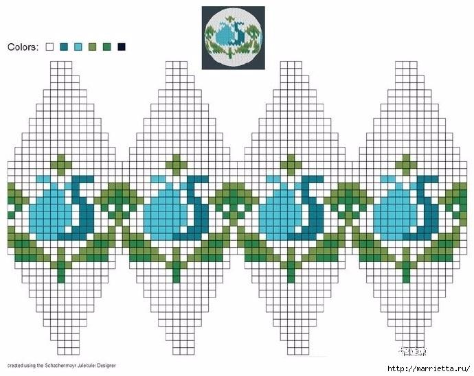 Елочные игрушки спицами. Схемы вязания (17) (690x548, 218Kb)