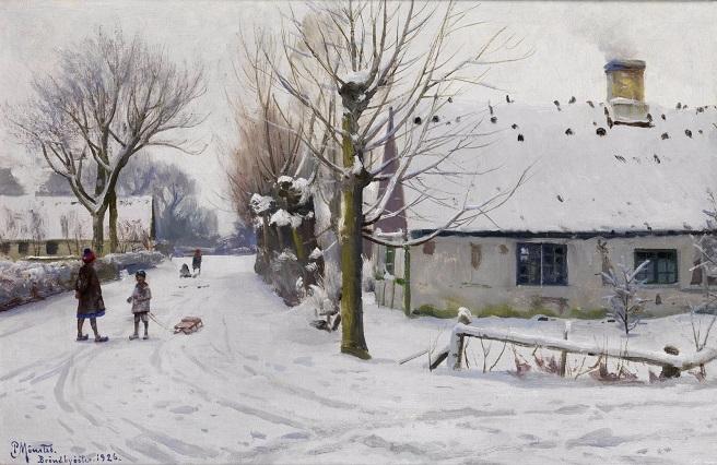 Зимний день в Брённбюёстере. 1926 (656x426, 286Kb)