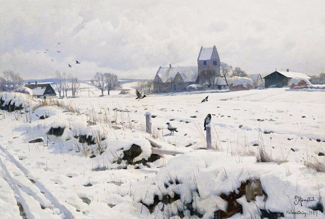Зимний пейзаж. 1927 (656x442, 291Kb)