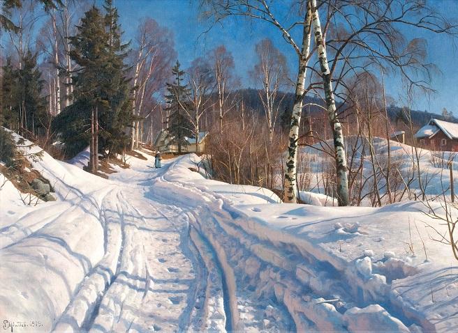 Солнечный зимний пейзаж. 1919 (656x478, 460Kb)
