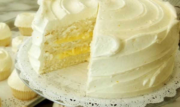 Рецепт лимонного бисквитного торта
