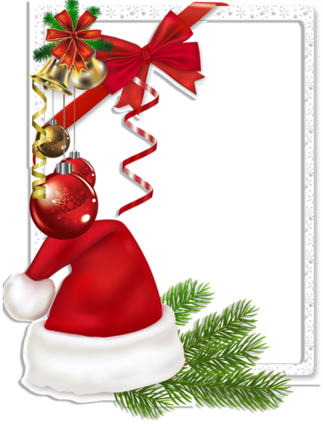 6032303_Christmas_Transparent_Photo_Frame_with_Santa_Hat_and_Bells (457x600, 290Kb)