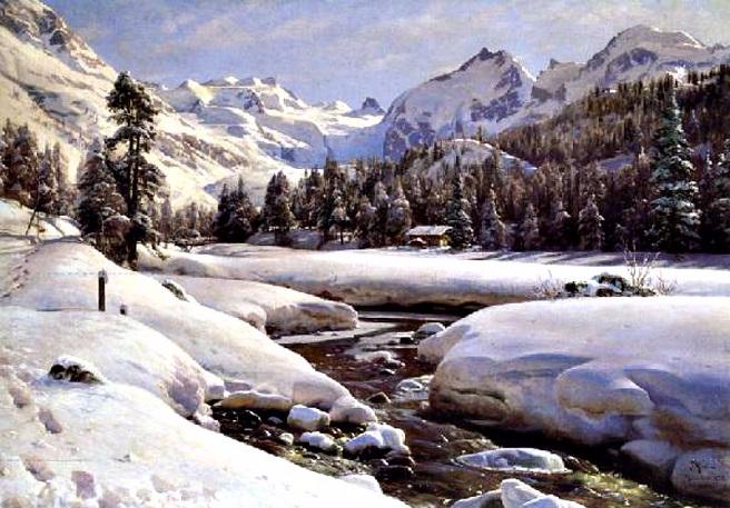 Альпийский пейзаж около Engadline. 1912 (656x457, 347Kb)