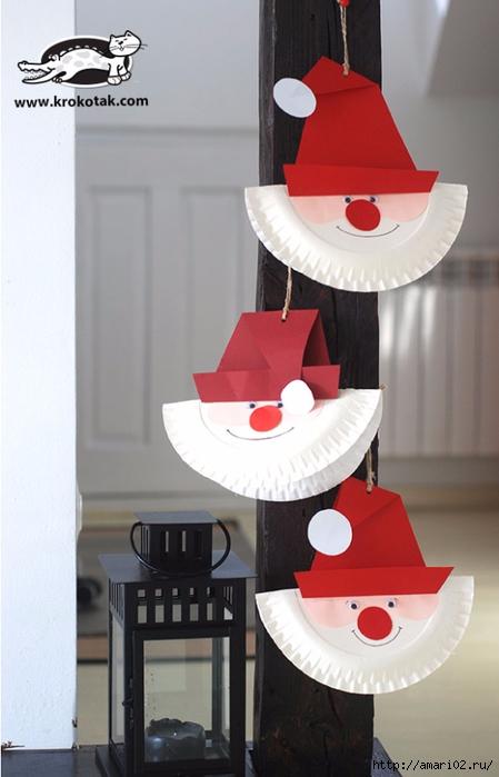 новогодние игрушки из одноразовых тарелок(449x700, 177Kb)