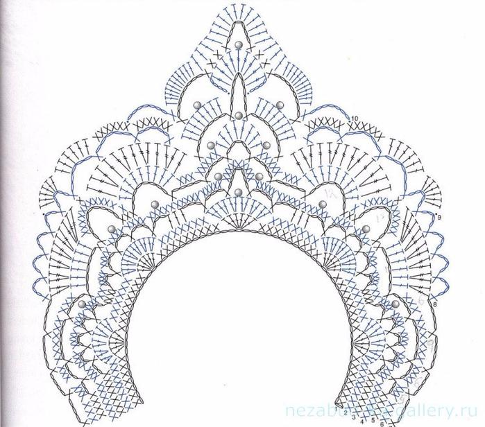 корона для снегурочки(700x616, 361Kb)