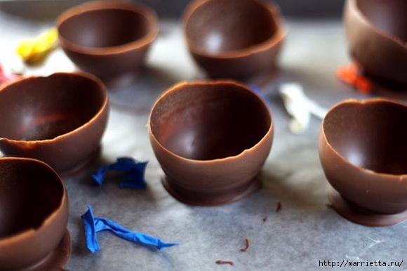 Вазочки из шоколада для сладких десертов (7) (580x386, 96Kb)
