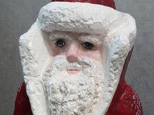 Мастер-класс: уличная скульптура «Дед Мороз» из монтажной пены   Ярмарка Мастеров - ручная работа, handmade