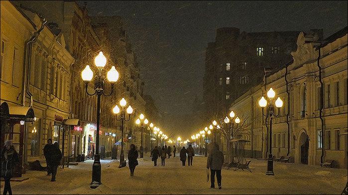 Москва. Вечер. Метель