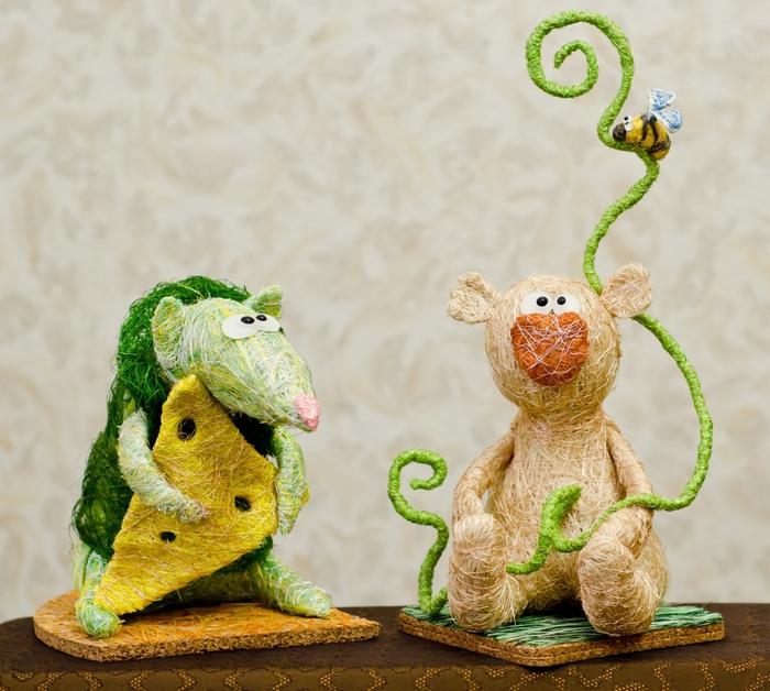 Игрушки из сизаля