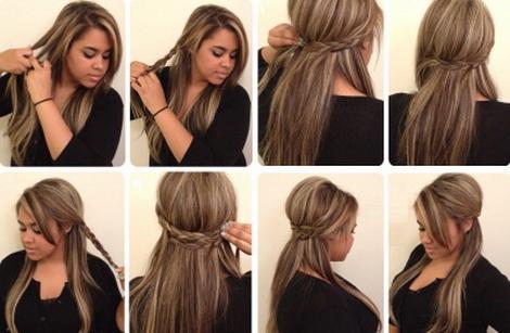 Прически с челкой на каждый день своими руками на средние волосы фото