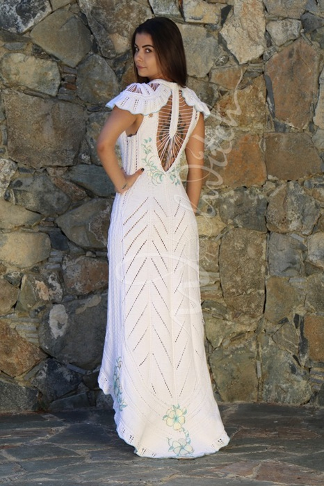 Белое платье с вышивкой 'Белла' 3 от Зои Вулвич (466x700, 133Kb)