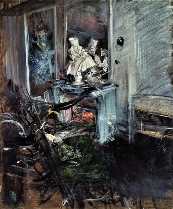 Уголок спальни художника с бюстом кардинала де Медичи   1899 (579x700, 169Kb)