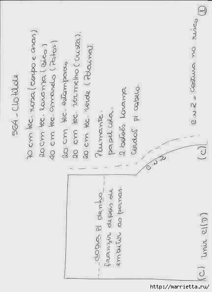 Шьем петушков и курочек. Много идей и выкроек (34) (431x593, 65Kb)