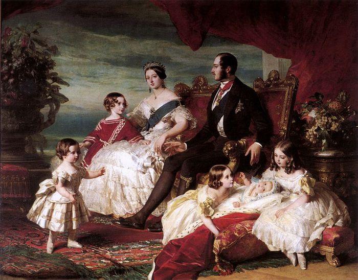 Виктория, Альберт и их дети (700x548, 86Kb)