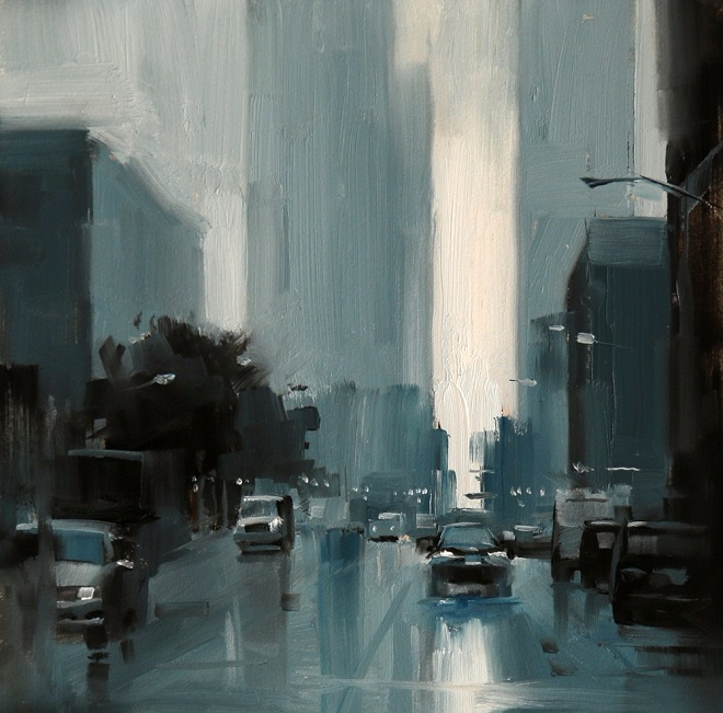 Chicago in the rain (660x651, 336Kb)