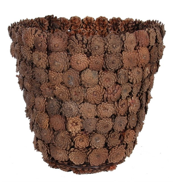 Поделки из сосновых шишек корзина