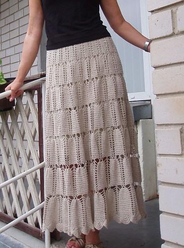 Простая вязанная юбка