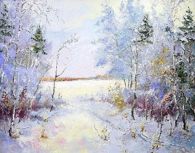 Зимняя лыжня. (658x518, 576Kb)