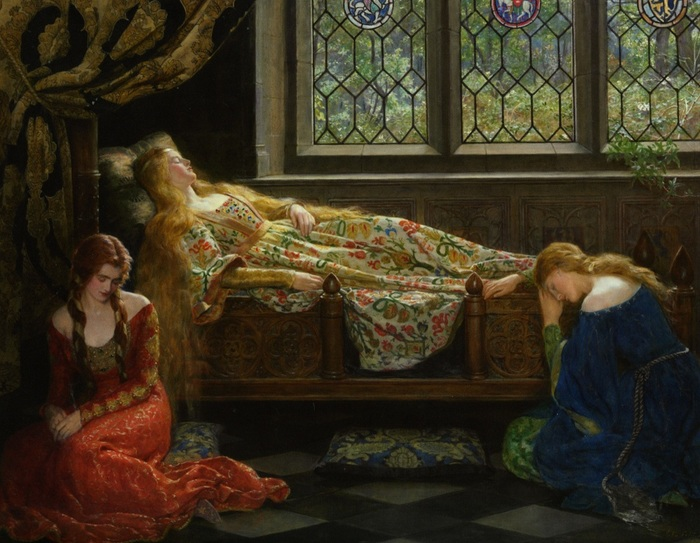 Collier_John_The_Sleeping_Beauty_1921_Oil_on_Canvas-huge (700x543, 134Kb)