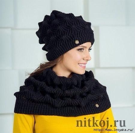 """针织帽子与脖套""""曲折"""" - maomao - 我随心动"""