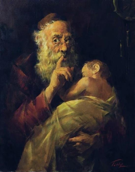 Гольд Гернадий (Герман) Моисеевич (Украина, 1933) «Ш-ш-ш!» 2001 (549x700, 83Kb)