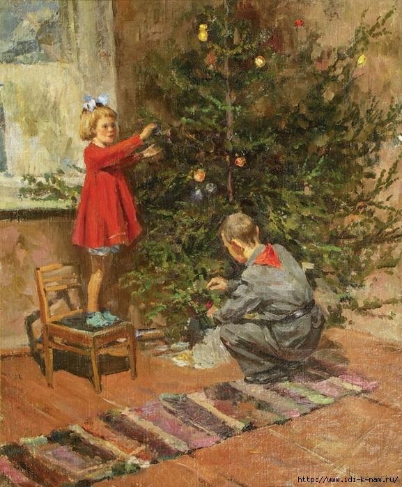 Волшебный Новый год в живописи, новогоднее