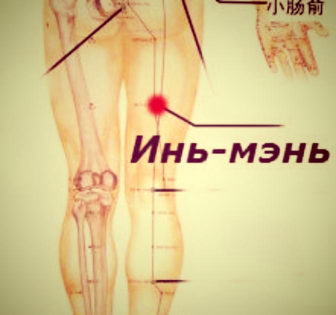 """alt=""""Массаж точек Чэн-фу и Инь-мэнь  от боли в спине."""""""