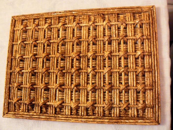 Плетение из газет крестик