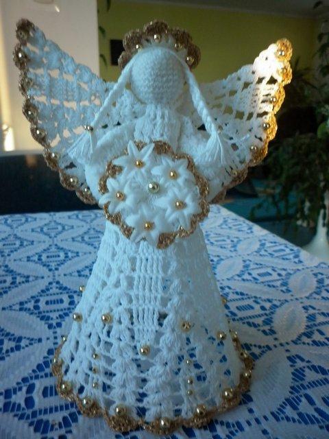 Вязание крючком рождественские ангелы схемы