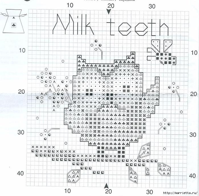 Вышиваем крестиком мешочек. Схемы вышивки (6) (700x688, 399Kb)