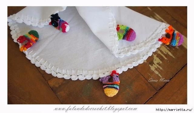"""毛巾、餐巾,桌布的""""小公鸡""""花边 - maomao - 我随心动"""
