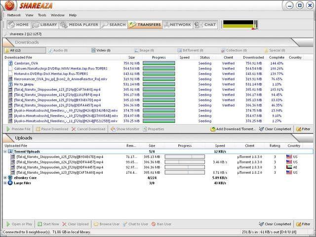 Как скачать и установить Shareaza с официального сайта, а затем этой программой скачивать файлы отовсюду