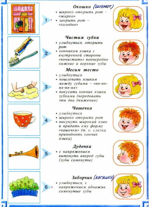 Логопедические упражнения для детей 3-4 лет в домашних условиях 274