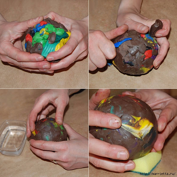 Елочный шар из гипса в старинном стиле (1) (600x600, 225Kb)