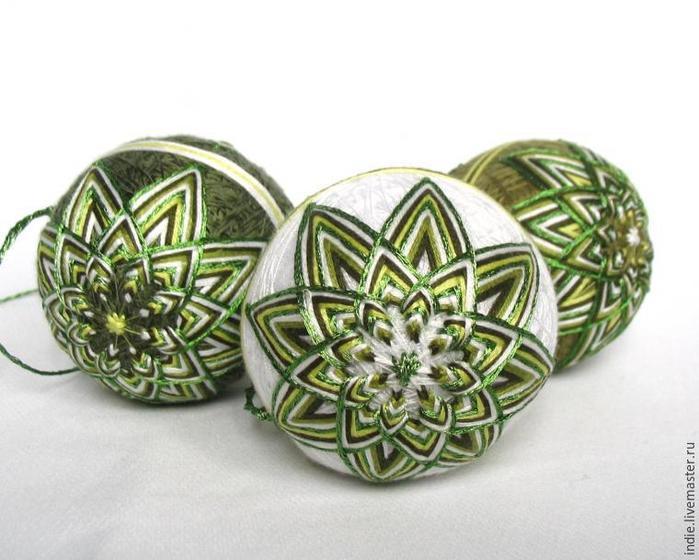 Необычные елочные украшения — шарики темари/1783336_151202155937 (700x560, 56Kb)