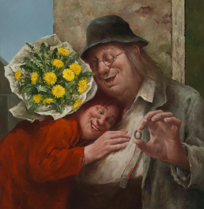 Нежное творчество голландского художника Мариус ван Доккум