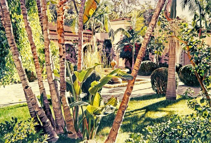 Акварельные пейзажи от David Lloyd Glover7 (700x473, 629Kb)