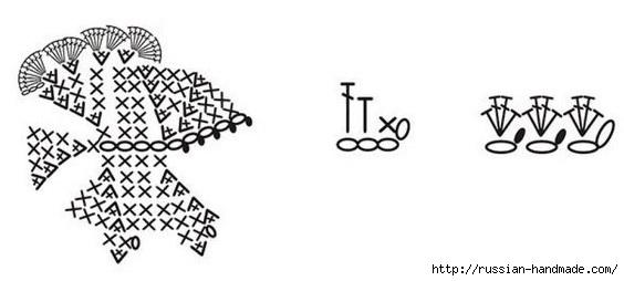 Детские тапочки КУРОЧКИ крючком. Схема (8) (564x254, 56Kb)