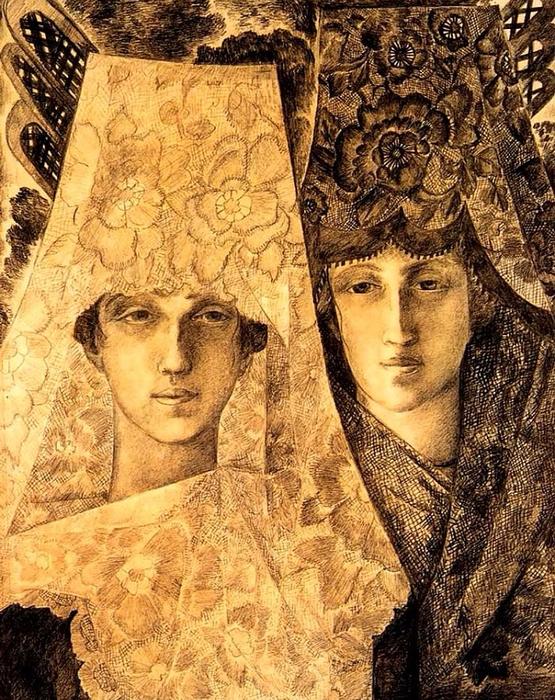 Испанки, 1915 (555x700, 618Kb)