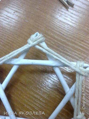 手工教程:线程链轮的雪花 - maomao - 我随心动