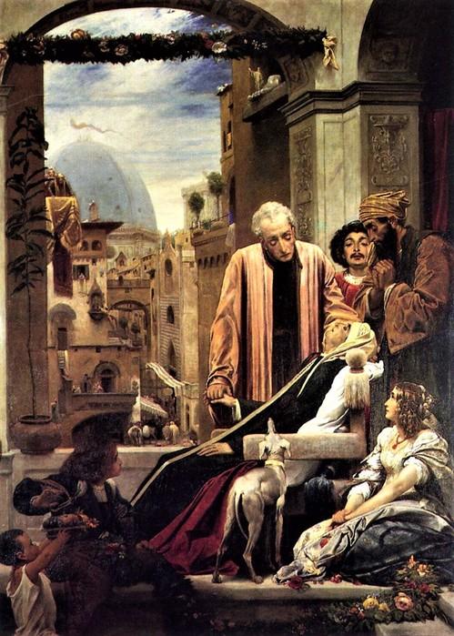 Frederick Leighton  Смерть Брунеллески   1852 (499x700, 136Kb)