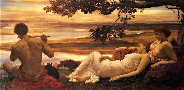 Frederick Leighton   Идиллия    с 1880-81 (700x344, 87Kb)